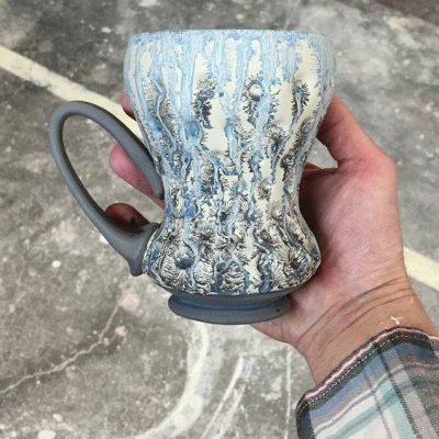гончарное дело техника декорирования табачный ангоб в мастерской керамики TIS